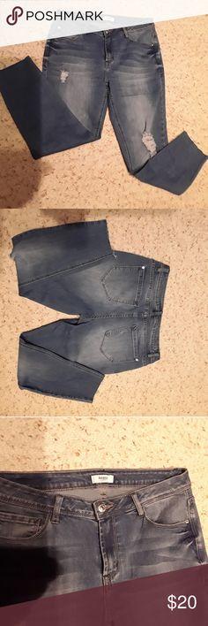 Kensie distressed jeans Kensie distressed jeans kensie Jeans Straight Leg