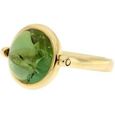 Jona Green Tourmaline Gold Ring ($2,660) ❤ liked on Polyvore featuring jewelry, rings, green, bezel set ring, gold jewellery, 18k ring, 18k gold ring and gold band ring