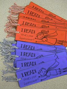 I Read!  What's Your Superpower? bookmarks