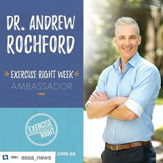 #Repost @essa_news  We are proud to announce our #ExerciseRightWeek ambassador for 2016 @drandrewrochford   #ExerciseRightWeek2016 #1weektogo #ExerciseRight