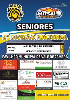 Futsal: ACR Vale de Cambra vs SPG C Cabeçudense > 17 Mai 2014,16h00 @ Pavilhão Municipal, Vale de Cambra #futsal #ValeDeCambra