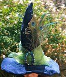 Peacock witch's hat - must have!  The Witch Wore Blue Velvet   by ~mermaidencreations