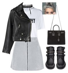 """""""Sans titre #1300"""" by frenchystyle ❤ liked on Polyvore featuring Givenchy, Topshop, Fallon, Acne Studios and Yves Saint Laurent"""