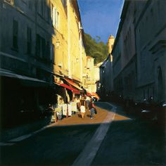 atmosphere... thats what i love about ben aronson's paintings. they capture the feeling  of the place, which can be so much more interes...