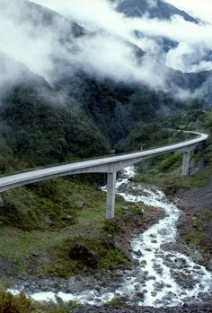 Arthurs Pass viaduct, The South Island, New Zealand