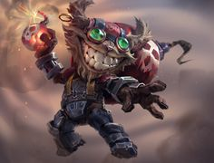 Ziggs (League of legends), Mike Azevedo on ArtStation at https://www.artstation.com/artwork/XOVka