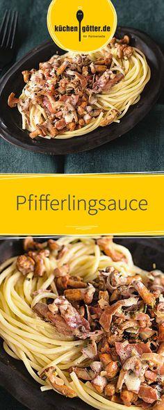So einfach und so schnell zubereitet. Dieses Pilz-Rezept schmeckt einfach köstlich! Die cremige Pfifferlingsauce wird mit frischen Pilzen, hochwertigen Gewürzen und feiner Crème fraîche angerührt und zu leckeren Spagetti und Parmesan serviert..