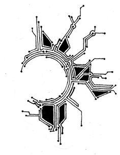 Circuit Board Pattern Tattoo Circuit board pattern tattoo: