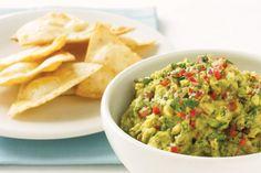 Guacamole with crispy tortilla chips main image
