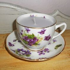 Hearts and Home - home accessories & gifts for all occasions, wedding and event hire. Teacup Candles, China Tea Cups, Vintage China, Scented Candles, Home Accessories, Personalized Gifts, Hand Painted, Tableware, Handmade