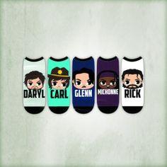 """The Walking Dead """"Chibi"""" Women's Low Cut Socks (5-Pack)"""