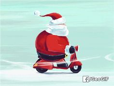 Santa už jede s dárky