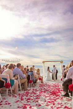 Beach wedding at the Don Cesar