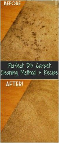Perfect DIY Carpet Cleaning Method