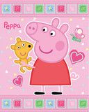 Peppa Pig and Teddy Polar Fleece Blanket | Cooldudes Kids   100% Official Item  Measurements: 120cm x 150cm  This cute Peppa Pig and Teddy thick, quality polar fleece blanket is perfect to keep you little fan happy and snug.