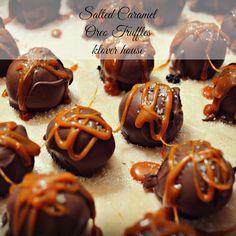 klover house: salted caramel oreo truffles