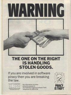 Don't copy that floppy! 1980s