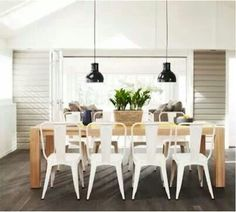 Timber Dining Table White Chairs Wood Furniture Stores Melbourne
