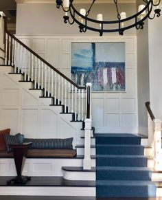 """Design - Art - Architecure on Instagram: """"MORE CHANGE After 30 years, these clients asked us to to create an entirely new look for a few rooms we designed for them three decades…"""" Grand Entrance, 30 Years, New Look, Design Art, New Homes, Stairs, Instagram Posts, House, Rooms"""