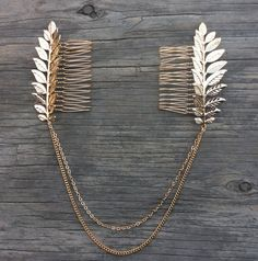 Hair chain Boho chic chains and leaves hair comb Free spirited glamour Sold out…