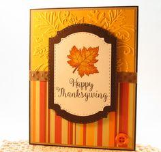 Thanksgiving Card Happy Thanksgiving handmade card Fall   Etsy
