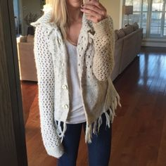 Free People Cardigan Worn once! Good condition. Free People Sweaters Cardigans