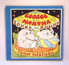 Vintage Children's Book, George and Martha, James Marshall, Hippos, Colorful, Weekly Reader Books, 1980s