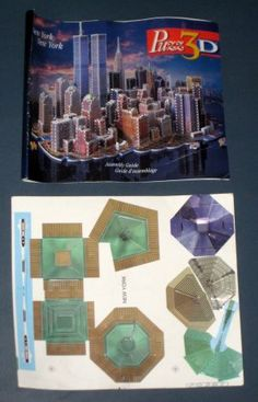 Puzz3D Puzzle New York New York 3141 Pieces Puzz-3D P3D-SP2 Twin Towers WTC World Trade Center 1997 $55