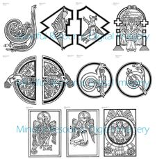 Book of Kells Digital Coloring Page Celtic Designs Printable Adult ...
