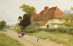 Arthur Claude Strachan The Village Inn - The Largest Art reproductions Center In Our website. Low Wholesale Prices Great Pricing Quality Hand paintings for saleArthur Claude Strachan Pintura Exterior, Village Inn, World Famous Artists, Art Terms, Cottage Art, Museum, Thomas Kinkade, Photo Canvas, Buy Prints
