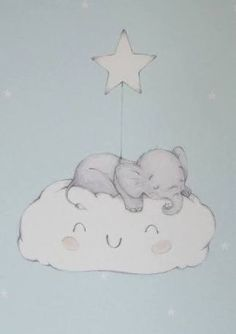 Image result for nursery baby clouds illustration