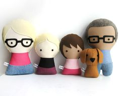 Custom gifts for mom: Custom handmade family dolls at the citizen's collectible
