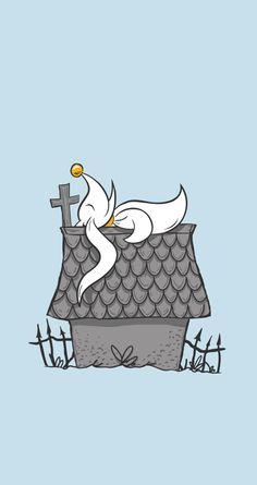 The Nightmare Before Snoopy - Ghost Dog, The Way Of The Skellington Tim Burton Kunst, Tim Burton Art, Tim Burton Style, Nightmare Before Christmas Wallpaper, Zero Nightmare Before Christmas, Zero Wallpaper, Disney Wallpaper, Jack Skellington, Disney Love