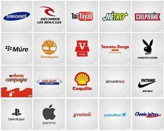 Ces logos de grandes marques internationales sont proposés à la sauce française.