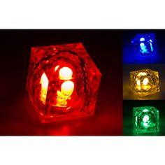 Blinkende LED Eiswürfel - getDigital