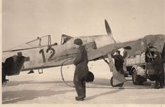 "FW 190 A ""Schwarze 12"", 'black 5' der 2./JG 51 in Wjasma im Winter 1942/43 - ebay photo find #215"