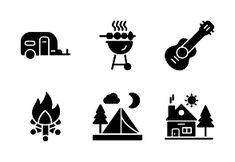'Camping by ProSymbols Camping Icons, Law And Justice, Computer Network, Outdoor Recreation, Tourism, Activities, Outdoors, Nature, Turismo
