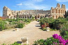 """El Djem is a town in Mahdia Governorate, Tunisia, population 48,611 (2014 census). It is home to some of the most impressive Roman remains in Africa, like the worldwide famous """"Roman amphitheater of Thysdrus"""". (photo credit: Dennis Jarvis)"""