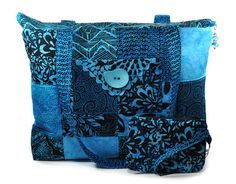 Hey, I found this really awesome Etsy listing at https://www.etsy.com/listing/170843674/quilted-tote-bag-large-aqua-blue