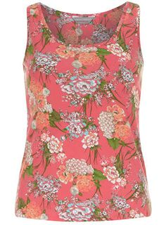 Petite floral printed vest