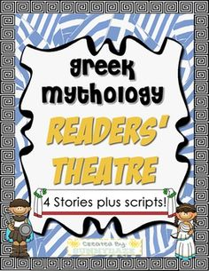 You'll have no problem getting students to re-read for fluency when they are having fun with these scripts, which also meet Common Core Standards.*** Save 25% by purchasing this resource in a BUNDLE! ***This Greek Mythology Readers' Theater (theatre) includes a set of four different plays.