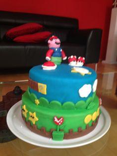 Super Mario voor Quinten's 6e verjaardag. 1 juni 2013