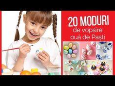 20 de metode creative de VOPSIRE OUĂ PAȘTI - lucru manual de Paște pentru copii și adulți - YouTube