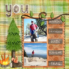 you scrapbooking layout | perfect for the great outdoors