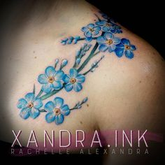 """Some forget-me-nots tonight  Now, it's bedtime zzzz - - - #tattoo #tattoos #ink…"