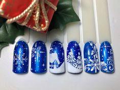 Nail Art Noel, Xmas Nail Art, Christmas Gel Nails, Christmas Nail Art Designs, Winter Nail Art, Halloween Nail Designs, Holiday Nails, Winter Nails, Nail Art Designs Videos