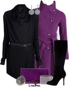 """Purple Coat"" by leebee11 ❤ liked on Polyvore"
