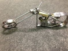 Hey, I found this really awesome Etsy listing at https://www.etsy.com/listing/192535836/metal-sculpture-hand-made-motorcycle
