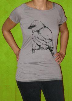 """Bird shirt by Berlin label """"Blausalzen"""""""