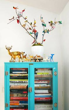love the blue, the birds, the deer